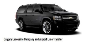 Chauffeured black SUV driven by Calgary's Burgundy Limo, our website sponsor